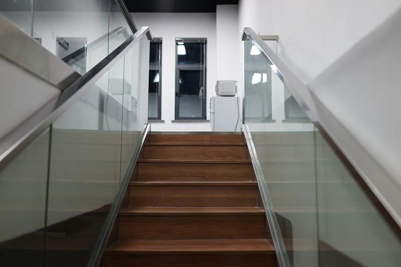 Glass Railings on Stairs